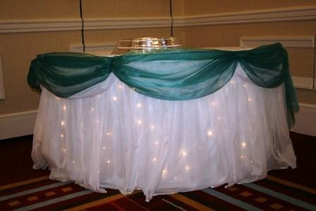Lighted table cloths Swansea, table decorations Swansea, Exclusively by Emma Arnold