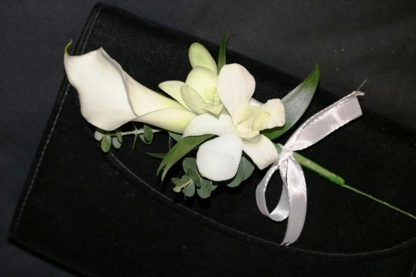 Corsages Swansea, wedding corsage Swansea, Exclusively Emma Arnold Swansea,