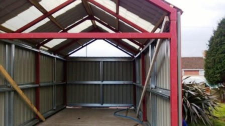 Bespoke steel buildings, steel, cladding buildings, steel garage, steel sheds swansea,