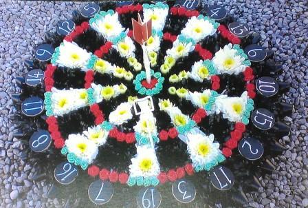 Dart board flowers neath,