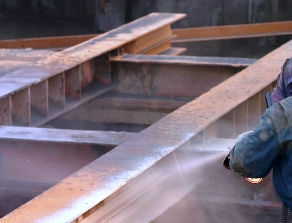 Steel refurb swansea, sandblasting Swansea, Industrial Steel Refurbishment Swansea,
