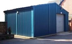 Steel outbuildings Swansea, garage Swansea, Cladded building Swansea, Storage Shed Swansea