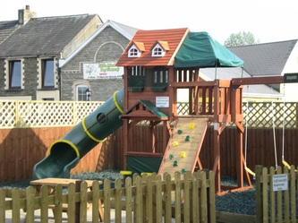 Childrens play area at The Riverside Inn, Gorseinon, Swansea